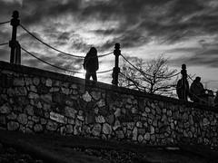 Dark walk home (rick miller foto) Tags: westcoast sunset twilight monochrome mono bw blackandwhite em10markii 17mm olympus canada britishcolumbia bc victoria
