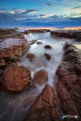 Sea Channels in Kiama, NSW Australia (Luke Zeme Photography) Tags: kiama nsw sydney australia exploring sonyalpha sony longexposure seascape sea ocean rockpools aussie wow ausphotomag rockshelf flowing silkysmooth smoothwater sunrise blowhole lukezeme newsouthwales