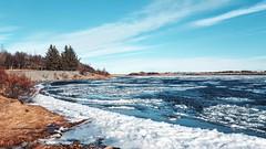 Ölfusá (skolavellir12) Tags: ice iceland river elv island selfoss ölfusá canon blue white magnús