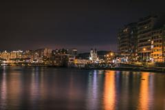 Night reflections (Sizun Eye (OFF for a while)) Tags: stjuliansbay malta europe bay night reflections sizuneye nikond750 nikon50mmf18 nikkor sangiljan
