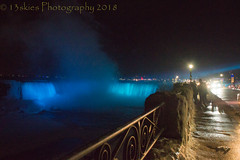 Night Time At The Falls (HFF) (13skies) Tags: hff niagarafalls bluelight thefalls nighttime highiso 6400iso sonya57 walkway view cold cool misty dark