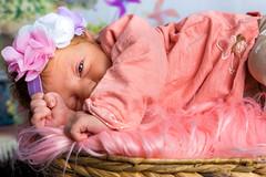 👶🚼Mya - Janvier 2018 - 02🚼👶 (Adrien Adao Photography) Tags: bébé baby rattan basket foot girl redhead box rotin panier pied field rousse boite pink rose fille bandeau oeil jolie