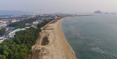 Hikari Japan from Above (Wind Watcher) Tags: yellow kap windwatcher kite levitation light delta ds 10 foot rokkaku hikari japan sea