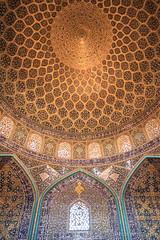 Prayer Hall, Sheikh Lotfollah Mosque, Isfahan, Iran (Feng Wei Photography) Tags: islamicculture persianculture middleeast isfahan art persian landmark vertical colorimage dome islamic builtstructure mosque famousplace tranquilscene iran iranianculture travel window islam unesco architecture unescoworldheritagesite sheikhlotfollahmosque tourism traveldestinations ceiling irn