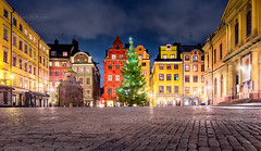 _MG_3169 - Stortorget square on New Year's eve, Stockholm (AlexDROP) Tags: 2017 stockholm sweden travel architecture city urban tree newyear eve holiday canon6d ef16354lis best iconic panoramic skyline famous mustsee picturesque postcard europe color night hdr