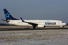 OK-TVM (Air Transat - TVS) (Steelhead 2010) Tags: airtransat boeing b737 b737800 travelservice okreg oktvm yhm