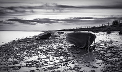 Sarkfoot (TrotterFechan) Tags: seascape boats black white solway esk sark battle grouptripod