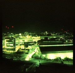 night view (pho-Tony) Tags: xpro fujivelvia felita 6x6 6cmx6cm roll film 120 rollfilm medium format mediumformat box boxcamera german germany 1950s 1955 simple cheap iso100 expired fuji velvia 100 slide crossprocessed tetenal