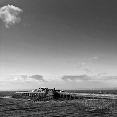 245 of Year 4 - The remains of Birnbeck pier. (Hi, I'm Tim Large) Tags: birbeck pier weston westonsupermare north somerset rotting fallingapart ruin wreck old rusting developer housing sea falling into save cnmestates eugeniusbirch rnli lifeboatstation