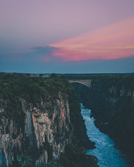 P1010727-3 (dylanbrent93) Tags: gorge victoria falls vic zimbabwe zambia nature landscape river bridge sunset sunrise skys