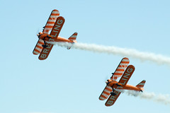 Breitling Wing Walkers at the Wales National Airshow 2011 (alunb) Tags: breitlingwingwalkers swansea wales walesnationalairshow aircraft biplane