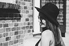 Hanna 3 (Trent Crawford) Tags: girl portrait people person hat sunglasses outside outdoors black white bw