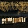 Beach Huts, Beer (Ali's view) Tags: coast huts beachhuts devon cliffs multipleexposure contrast light dark sea pebbles beach bay beer