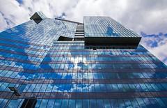 Tetris (CoolMcFlash) Tags: building modern window glass facade cloud blue architecture lowangleview vienna canon eos 60d gebäude fenster fassade glas wolke blau architektur wien fotografie photography reflection spiegelung lines linien sigma 1020mm 35 cube würfel urban city stadt