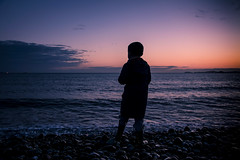 The dreams we have as children (Explored 14/02/18) (Andy2305) Tags: explored family silhouettes sunset newgale pembrokeshire wales beach