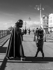 Not the last Jedi (daveseargeant) Tags: monochrome darth vader star wars jedi brighton sea side leica x typ 113 street bw