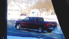 Black pickup truck - HTT 365/106 (Maenette1) Tags: pickuptruck black neighborhood window menominee uppermichigan happytruckthursday flicker365 michiganfavorites project365