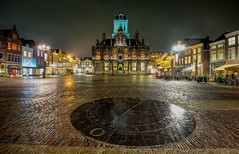Night in Delft (zilverbat.) Tags: city delft nightshot longexposurenetherlands longexposurebynight night nightphotography innercity centrum stedelijk history nightlights nightimage bild binnenstad urban nacht nat wet wallpaper world winter architecture citytrip citybynight cityhall old rain bookcover postcard street visit travel hostel bnr zilverbat stadhuis plein marktplein markt tower cirkel thenetherlands dutch holland rijksmonument heritage tourism