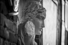 Classic (Phil Roeder) Tags: desmoines iowa blackandwhite monochrome canon6d canonef70200mmf4lusm coffeeshop statue greek