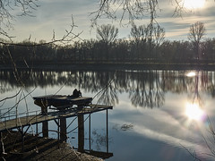 pond and its shores on a sunny January day (uiriidolgalev) Tags: pond its shores sunny january day