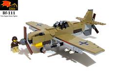 Bf-111 clean image (Eínon) Tags: messerschmitt heinkel second world war germany luftwaffe lego fighter me109 bf109 egypt afrika corps tunisia