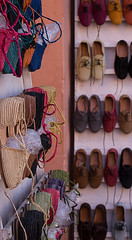 (Bantamgirl) Tags: shoes handmade medina souk morocco marrakech colours laces espadrilles