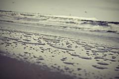 Wave was here (navarrodave80) Tags: beach foam wave bottom onthebeach ustka poland baltic seainbackground water wavetrace nikon d3300 monochrome davechmiel chmiel