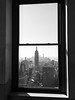 That window (marktmcn) Tags: rockefeller centre tower window view manhattan new york empire state building skyscrapers towers sunny day winter sun blackandwhite monochrome