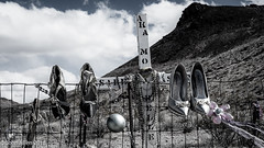 WHERE DO YOU LIE, ISABELLE HASKINS? ::: Rhyolite, Nevada (John E. Allen) Tags: ghosttown leicaq johnallen landscape monabelle rhyolite graves isabellehaskins deathvalley nevada