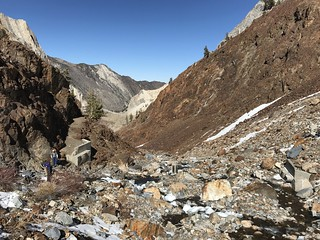 The washed out trail bridge, and the end of fast, easy hiking