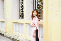 DSC_0005 (tungson.nguyen) Tags: vietnam women traditional film dress smile portrait