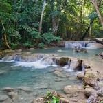 Level 1 of Erawan Waterfalls in Kanchanaburi, Thailand thumbnail