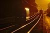 LE soleil se lève sur Montpellier (Marc ALMECIJA) Tags: montpellier tram rail railway orange sony rx10m3 route road sunrise levé soleil sun reflet reflections amateur outside outdoor train chemin de fer