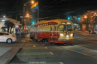 MUNI F-LINE CARS--1062 lv 17th Street/Castro