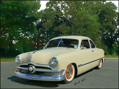 50 Ford (novice09) Tags: ford 50 coupe custom backtothefifties reparked ipiccy pencilsketchapp manlipulated whitewalls