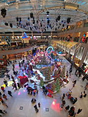 """""""festive"""" (hugo poon - one day in my life) Tags: lgv20 hongkong central landmark festive colours lights xmas shopping crowd people greetings phone"""