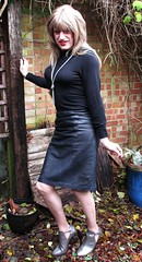 Real Thing :-) (Amber :-)) Tags: black leather pencil skirt tgirl transvestite crossdressing