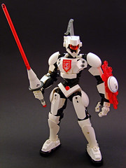 Trooper Invictus (Djokson) Tags: knight solider armor trooper space warrior mecha robot suit white red black lance shield djokson lego moc toy model