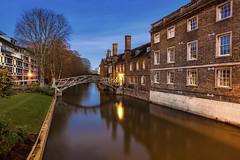 Mathmatics In Cambridge (JH Images.co.uk) Tags: cambridge sky night bridge mathematics college hdr dri water reflection architecture