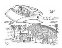Modjeska Canyon (rod1691) Tags: myart art sketchbook bw scifi grey concept custom car retro space hotrod drawing pencil h2 hb original story fantasy funny tale automotive illistration greyscale moonpies sketch sexy