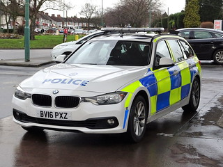 West Midlands Police BMW 330d Traffic Car BV16 PXZ (OPS189), Birmingham.