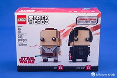 41489 Rey & Kylo Ren (The Brothers Brick) Tags: 41489 rey kylo ren lego review 2017 star wars force awakens last jedi brickheadz