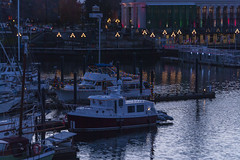 2017-12-15_17-33-14 Victoria Harbour (canavart) Tags: victoria bc canada britishcolumbia vancouverisland evening christmas sailboats dusk lights harbour harbor