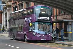 First Volvo B5LH 39237 BL65YZD - Manchester (dwb transport photos) Tags: first volvohybrid wright eclipse gemini bus decker vantage 39237 bl65yzd manchester