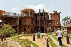 Creative architecture (LeftCoastKenny) Tags: madagascar antananarivo building trees laundry sculpture chairs day13