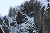 Spanning... (AngharadW) Tags: spanning treadcarefully precarious angharadw rock span snow footbridge
