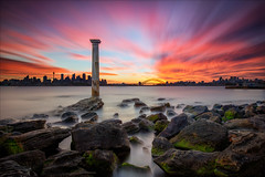 Sunset over Sydney Harbour (Young Ko) Tags: cityskyline sunset night skyline sydneyharbour bradleys mosman nightsky yellow harmony nikon flickr awesome sky lonely composition seascape colorful interesting beautifulphoto longexposure