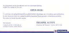 Renkum Delsink Autos uitnodiging Nissan oktober 1981 Collectie Harry Delsink Echos 2017 1 (Historisch Genootschap Redichem) Tags: renkum delsink autos uitnodiging nissan oktober 1981 collectie harry echos 2017 1