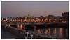 Nocturno en el puente de la Zurriola. san Sebastián (Guipúzcoa) España (José María Gómez de Salazar) Tags: puente rio riourumea zurriola agua nocturno sansebastian donosti españa bridge river water night spain dusk city