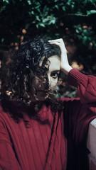 Mariana. 09:07 p.m. (Gabriel Plcs) Tags: sonynex3 minoltamd50mm14 portrait girl night manuallens highiso grainisgood